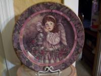 Bradford exchange angel plate 8 inch diameter
