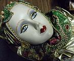 Ceramic Face In Green