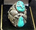 Sterling Turquoise Man's Ring