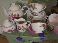Tea Set With Pretty Roses