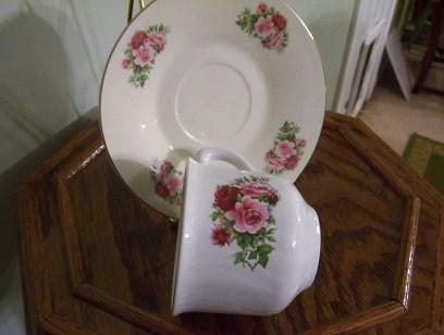 Rosey Cup & Saucer