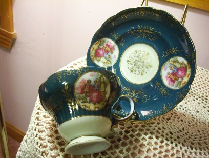Royal Sealy Couple Cup & Saucer