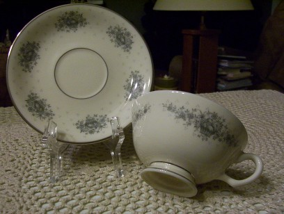 Lenox Gray Cup & Saucer