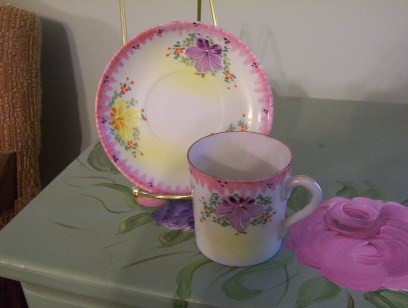 Tiny Pink Cup & Saucer