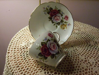 Rose Bone China Cup & Saucer